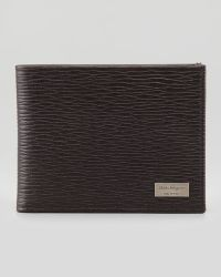 Ferragamo Revival Bifold Leather Wallet Brown - Lyst