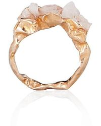 Niza Huang C R U S H Engagement Rose-Gold Ring - Lyst