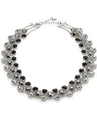 ABS By Allen Schwartz - Faceted Triple-row Necklace - Lyst