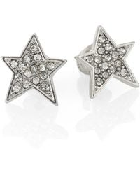 ABS By Allen Schwartz - Pavé Star Stud Earrings - Lyst