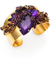 Aerin Erickson Beamon - Faceted Cluster Cuff Bracelet - Lyst