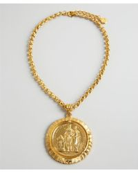 Ben-Amun - Gold Chain and Large Coin Necklace - Lyst