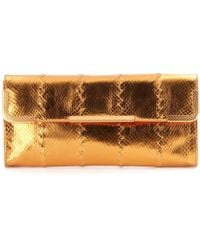 Bottega Veneta Metallic Snake Clutch - Lyst