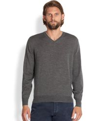 Brunello Cucinelli Wool/Cashmere V-Neck Sweater - Lyst