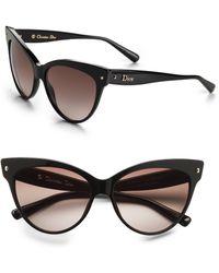 Dior Brown Catseye Sunglasses - Lyst