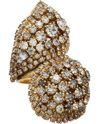 Erickson Beamon Goldplated Swarovski Crystal Cuff - Lyst