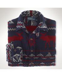 Polo Ralph Lauren Customfit Jacquard Workshirt - Lyst
