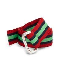 Polo Ralph Lauren Stripe Multicolor Ribbon Belt - Lyst