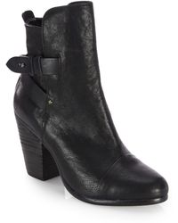Rag & Bone Kinsey Leather Ankle Boots - Lyst