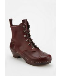 Urban Outfitters Swedish Hasbeens Nana Laceup Ankle Boot - Lyst