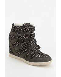 Urban Outfitters | Bdg Floral Strap Hidden Wedge Hightop Sneaker | Lyst