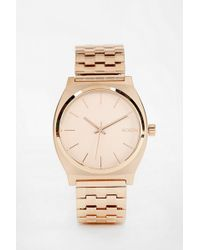 Nixon The Time Teller Rose Gold Watch - Lyst