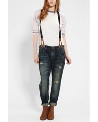 Urban Outfitters Bdg Slim Slouch Suspender Jean - Lyst