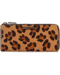 Elizabeth and James - Leopard Print Calf Hair Wallet - Lyst