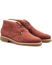 Tod's Shearlinglined Suede Desert Boots - Lyst