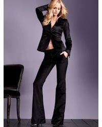 Victoria's Secret Velvet One-button Jacket - Lyst