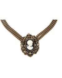 Ben Amun Short Cameo Pendant Necklace - Lyst