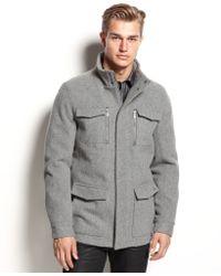 Calvin Klein Basic Wool Four Pocket Coat - Lyst