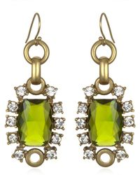 Gerard Yosca Green Drop Earrings - Lyst