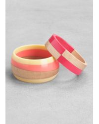& Other Stories - Wood and Resin Bangle Set - Lyst