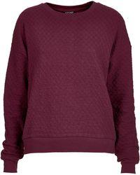 Topshop Quilted Sweatshirt - Lyst