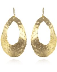 Wendy Mink Hammered Oval Cutout Earrings - Lyst