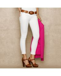 Blue Label Cropped Skinny Jean - Lyst