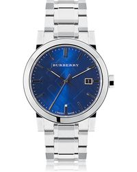 Burberry - The City Medium Stainless Steel Watch - Lyst
