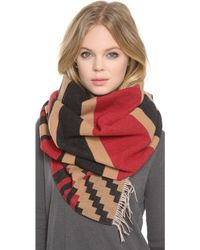 Pendleton - Patterned Fringed Scarf - Lyst