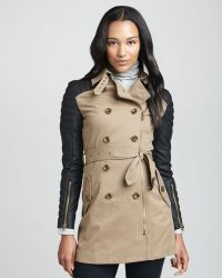 W118 by Walter Baker - Motosleeve Combo Trench Coat - Lyst