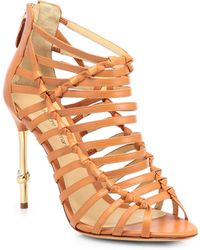Alexandre Birman Strappy Leather Sandals - Lyst