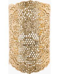 Aurelie Bidermann Gold Vintage Lace Cuff - Lyst