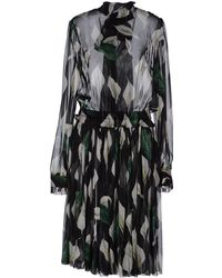 D&G Long Sleeve Chiffon Knee Length Dress - Lyst