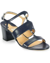 Ferragamo Leather Buckle Sandals - Lyst