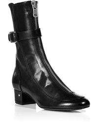 Laurence Dacade Leather Ankle Boots In Black - Lyst