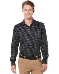 Perry Ellis Long Sleeve Foulard Print Shirt - Lyst