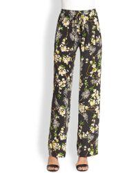 Pjk Patterson J. Kincaid - Paris Silk Printed Wideleg Trousers - Lyst