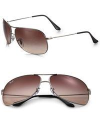 Ray-Ban Aviator Square Wrap Sunglasses - Lyst