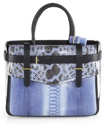 Reed Krakoff Boxer Python And Leather Tote - Lyst