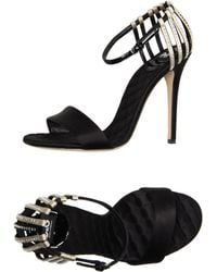 D&G High Heeled Sandals black - Lyst