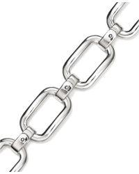 Lauren by Ralph Lauren - Silvertone Foldover Link Chain Bracelet - Lyst