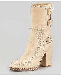 Laurence Dacade Leather Studded Baulence Half Boots - Lyst