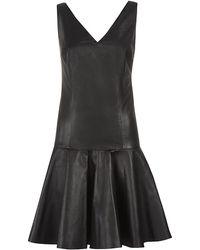 Ralph Lauren Blue Label - Stasya Leather Dress - Lyst