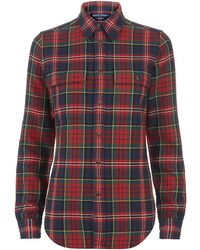 Ralph Lauren Blue Label - Veronica Plaid Shirt - Lyst