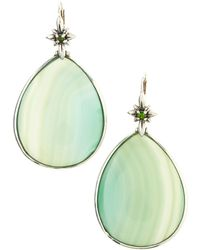 Stephen Dweck Green Agate Teardrop Earrings - Lyst