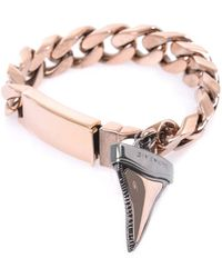 Givenchy - Shark Tooth Charm Chain Bracelet - Lyst