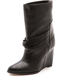 IRO - Dethro Wedge Boots - Noir - Lyst