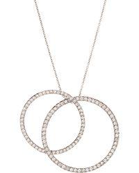 Roberto Coin - Double Diamond Circle Necklace - Lyst