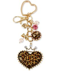 Betsey Johnson Goldtone Dangling Princess Charm Key Chain - Lyst