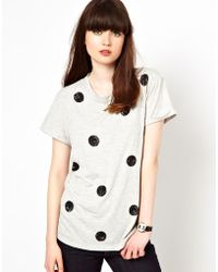 Boutique by Jaeger - Jersey Top with Sequin Polka Dot - Lyst